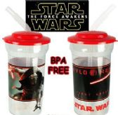 24 Units of Star Wars Acrylic Travel Cups w/ Lid & Straw - Drinkware