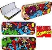 96 Units of Marvel Comics Metal Pencil Boxes - Pencil Boxes & Pouches