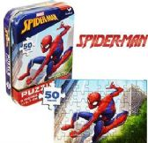 144 Units of Spiderman Mini Jigsaw Puzzle Tins - PUZZLES