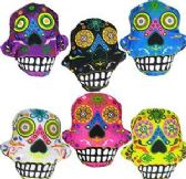 "288 Units of 5.5"" Mini Plush Day of the Dead Skulls - Plush Toys"