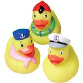 144 Units of Large Rubber Sailor Duckies - Animals & Reptiles