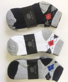 72 Units of Men cotton short socks Size9-11 - Mens Ankle Sock