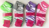 "72 Units of Woman ""WAVE""short socks/color assorted - Womens Ankle Sock"