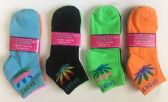 "72 Units of Woman ""SPORT""short socks/color assorted - Womens Ankle Sock"