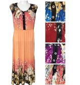 12 Units of Lady's Long Summer Dress/color size assorted - Womens Sundresses & Fashion