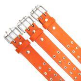 48 Units of Double Hole Orange Belt - Unisex Fashion Belts