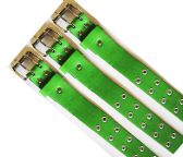 48 Units of Double Hole Green Belt - Unisex Fashion Belts