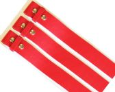 48 Units of No buckle Plain Red Belt - Unisex Fashion Belts