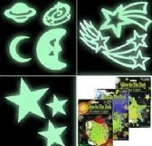 144 Units of Glow in the Dark Celestial Wall Decals - Home Decor