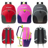 24 Units of 17 Inch Kids Sport Backpacks in 3 Assorted Colors - Case of 24 - Backpacks 17""