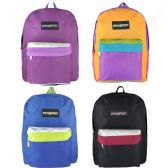 "24 Units of 17"" Wholesale Kids Sport Backpacks in 3 Assorted Colors - Backpacks 17"""