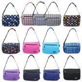 "24 Units of 16"" Track Messenger Bag in a Random 6 Colors and 7 Prints Assortment - Shoulder Bags & Messenger Bags"
