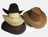 24 Units of Cow Boy Hat/ Color Assorted - Cowboy, Boonie Hat