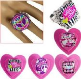 108 Units of Jumbo Glam Adjustable Rings - Rings