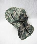 24 Units of Men's Cowboy Sun Hat, Summer Beach Bucket Hat For Hunting Fishing Safari Cap Boonie In Digital Green - Cowboy, Boonie Hat