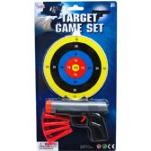 "96 Units of 5.5"" TOY GUN W/ SOFT DARTS & TARGET ON BLISTER CARD - Toy Weapons"