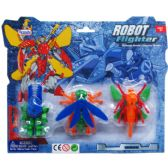 "72 Units of 3PC 2.75-3"" ROBOTS ON BLISTER CARD, 2 ASSRT STYLES - Action Figures & Robots"
