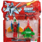 "96 Units of 2PC 2.75-3"" ROBOTS ON BLISTER CARD, 2 ASSRT STYLES - Action Figures & Robots"