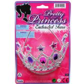 "96 Units of 5.5"" PRETTY PRINCESS TIARA TIED ON CARD - Party Hats & Tiara"