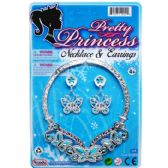 "96 Units of 4.75"" PRINCESS NECKLACE & 2"" EARRINGS TIED ON CARD - Party Hats/Tiara"