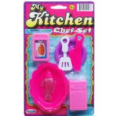 144 Units of 6PC MY KITCHEN CHEF SET ON BLISTER CARD, 2 ASSRT - Toy Sets
