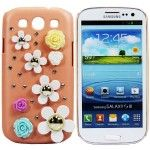 12 Units of Glaxy III S3 3D Flower Protective Case - Cell Phone Accessories