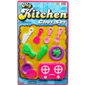 96 Units of 11PC MY KITCHEN CHEF PLAY SET ON BLISTER CARD, 2 ASSRT - Toy Sets