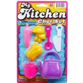144 Units of 7PC MY KITCHEN CHEF SET ON BLISTER CARD, 2 ASSRT - Toy Sets
