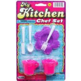 144 Units of 6PC MY KITCHEN CHEF SET ON BLISTER CARD - Toy Sets