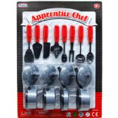 24 Units of APPRENTICE CHEF COOKING PLAY SET IN BLISTER CARD - Girls Toys