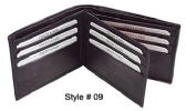 24 Units of BI FOLD WALLET BLACK - Leather Wallets