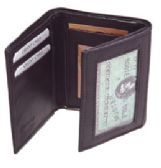 24 Units of TRI FOLD WALLET BROWN - Leather Wallets
