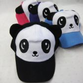 36 Units of Kid's Panda With Ears Baseball Cap - Kids Baseball Caps