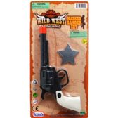 "72 Units of 7"" CLICKING TOY COWBOY GUN PLAY SET ON BLISTER CARD - Toy Weapons"