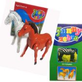 12 Units of The Funny Run Horse & Zebra - Animals & Reptiles