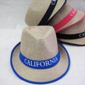 """36 Units of """"California"""" Fedora Hat - Fedora Hat/Driver Cap/ Ivy Cap/Visor"""