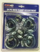 24 Units of 34 PIECE HOSE CLAMP ASSORTMENT - Clamps