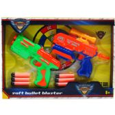 """24 Units of 2PC 7.75"""" AIR GUNS PLAY SET IN OPEN BOX W/ COVER - Toy Weapons"""