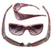 36 Units of Fashion Woman camo diamond sunglasses - Sunglasses