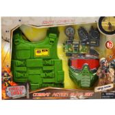 "12 Units of 6PC MILITARY PLAY SET W/ 12"" TOY VEST IN OPEN BOX W/ COVER - TOY SETS"