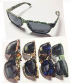 36 Units of Men Camo Wooden Frame Sunglasses - Sunglasses
