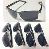 36 Units of Men Metal Half Frame Sunglass - Sunglasses