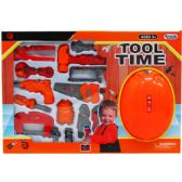 "18 Units of 15PC TOOL PLAY SET W/ 9"" TOY HELMET IN WINDOW BOX - TOY SETS"