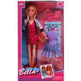 "12 Units of 11.5"" BENDABLE BELLA DOLL W/ ACCSS IN WINDOW BOX - Dolls"