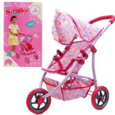 6 Units of 31L*24H IN STEEL FRAME TOY DOLL STROLLER IN COLOR BOX - Dolls