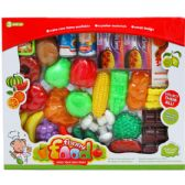 18 Units of 36PC PRETEND FOOD PLAY SET IN WINDOW BOX - TOY SETS