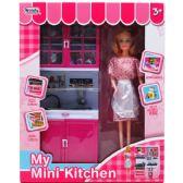 """6 Units of 12.25"""" MINI KITCHEN SINK W/ 11"""" DOLL IN WINDOW BOX - Dolls"""