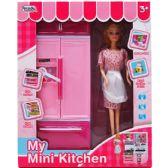 """6 Units of 12.25"""" B/O MINI KITCHEN FRIDGE W/ 11"""" DOLL IN WINDOW BOX - Dolls"""