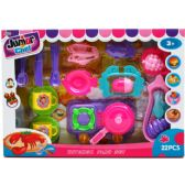 12 Units of 22PC JUNIOR CHEF KITCHEN PLAY SET IN WINDOW BOX - TOY SETS