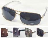 36 Units of Man's Metal Sunglasses - Sunglasses